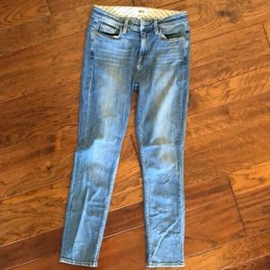 Paige Carter slim light wash skinny jeans